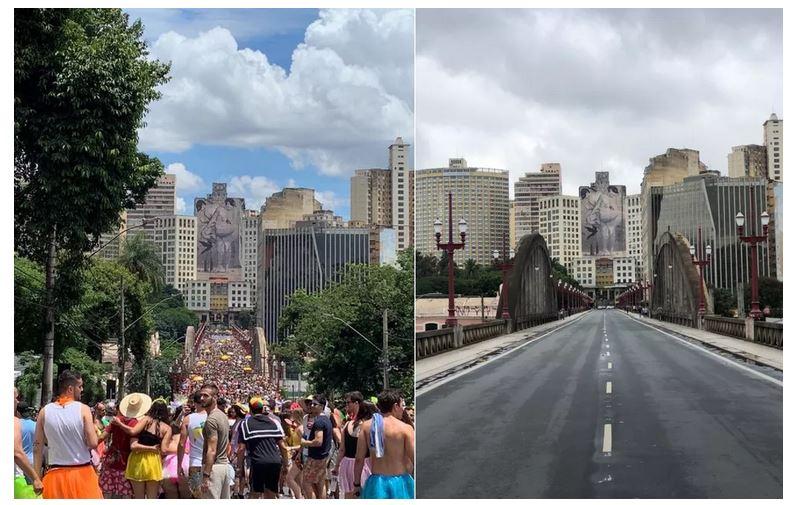 Belo Horizonte tem cartões postais desertos nesta terça-feira de carnaval 16-02-2021